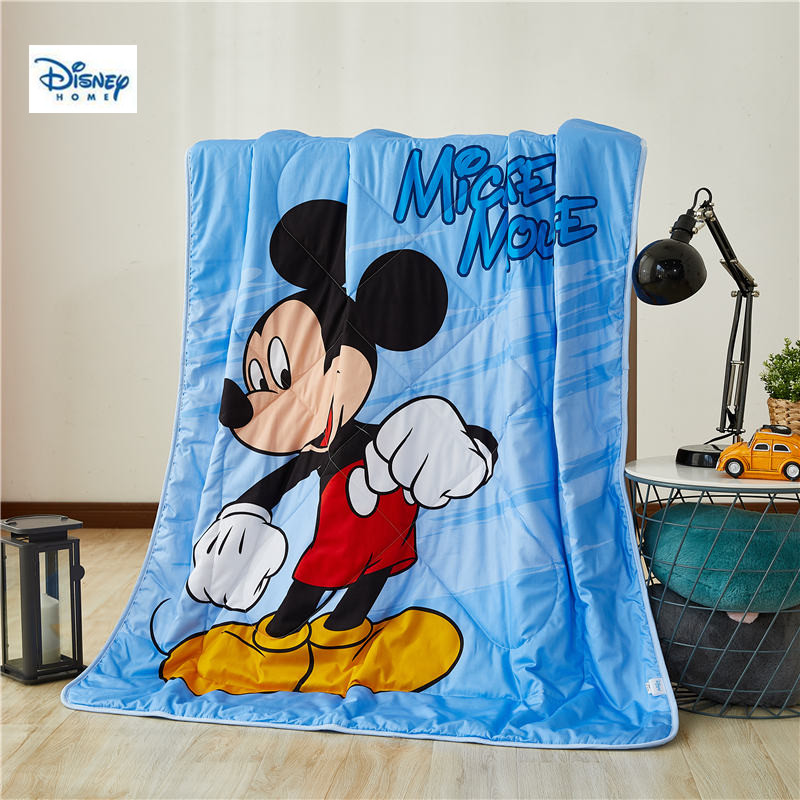US $37.04 35% OFF|disney mickey mouse summer thin comforter quilt 3d  Cartoon quilt cotton cover children bedroom decor throw blanket boy girl  gift-in ...