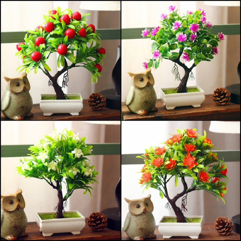 Artificial plants bonsai for home decoration artificial for Artificial leaves for decoration