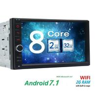 7 Double Din Android Car Stereo Receiver Bluetooth GPS Navigation 2din Support Wifi APP Download Mirrorlink