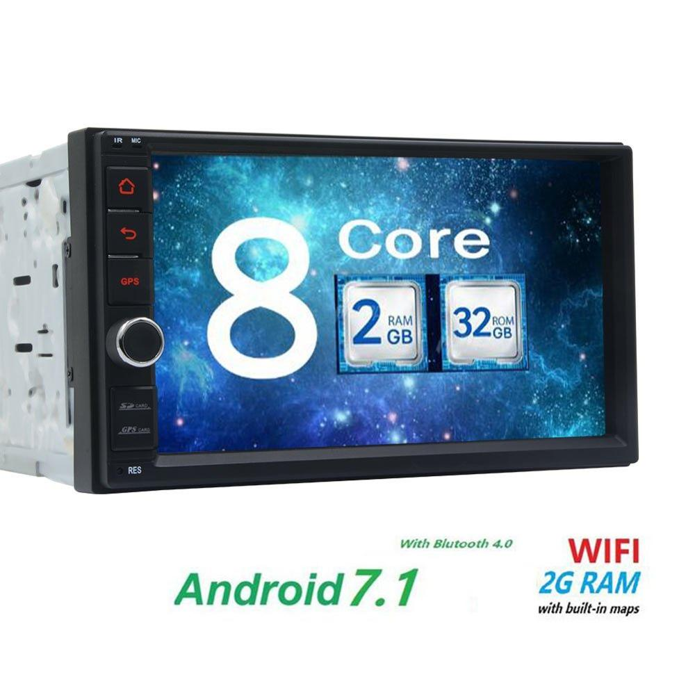 7''Double Din Android Car Stereo Receiver Bluetooth GPS