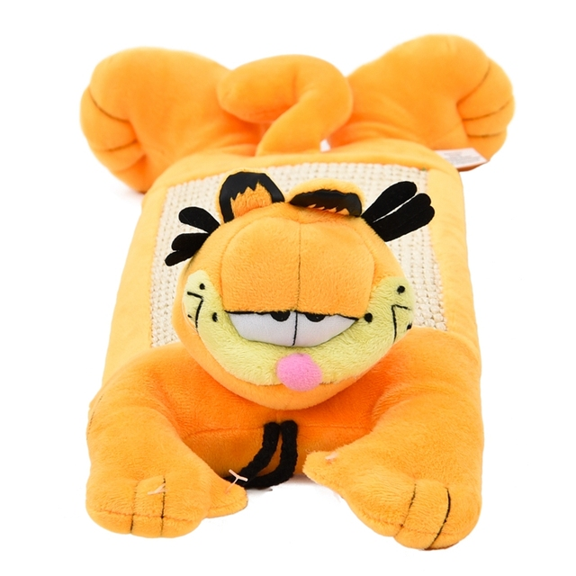 free Shipping Pet Small Toy Cat Kittens Funny Scratch Post Hanging Scratch Post Garfield Character Creative Funny Interesting