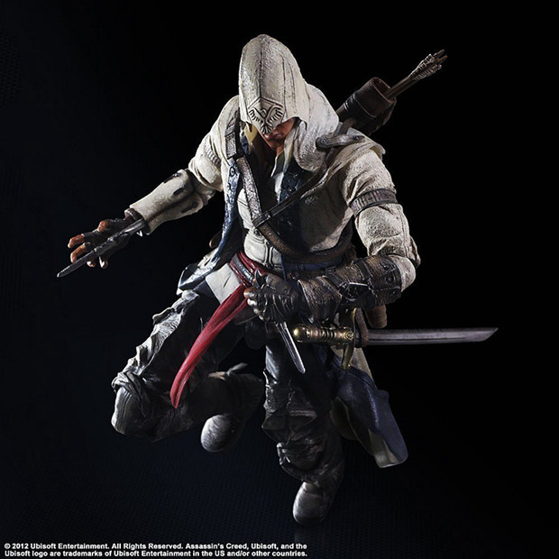 ФОТО PA 1pcs ASSASSINS CREED Connor action pvc figure toy tall 26cm in box hot sell.