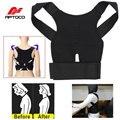 Aptoco ajustable soportes soporte de la cinta volver corsé lumbar corrector de postura hombro corrector negro amarillo