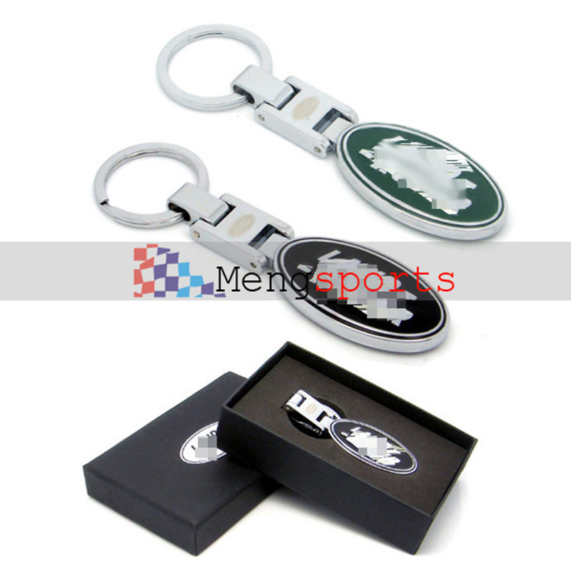 20pcs TOP Metal Green Black Car Styling Keyring Key Chain with Black BOX Shipping Free