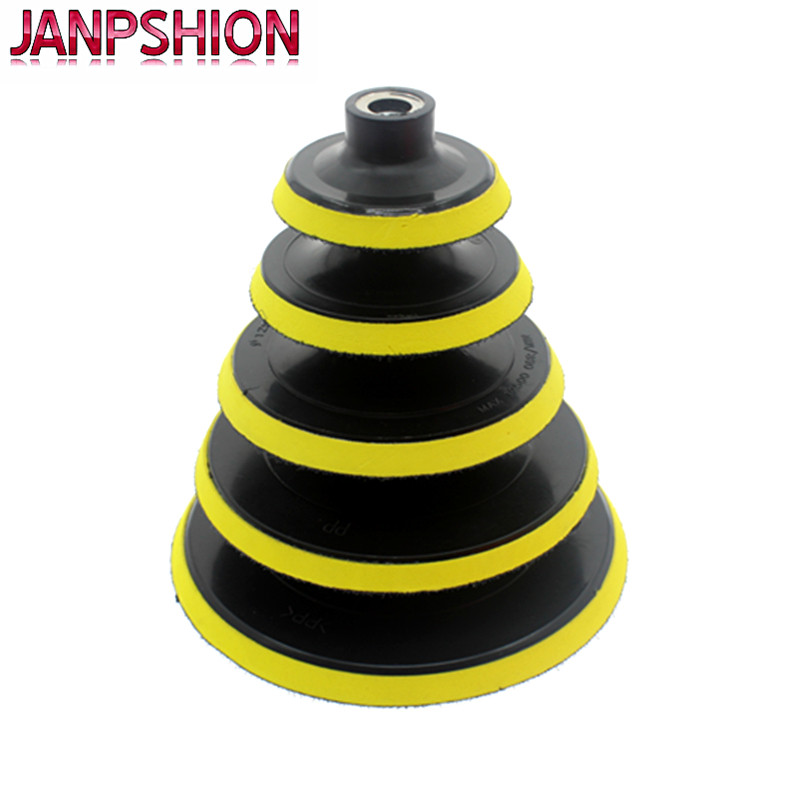 JANPSHION 3' 4' 5' 6' 7' Self-adhesive disc & drill rod For Car paint Care polishing pad 75mm 100mm 125mm 150mm 180mm janpshion 3 4 5 6 7 polishing pad car waxing sponge wool polishing disc for car paint care 75mm 100mm 125mm 150mm 180mm