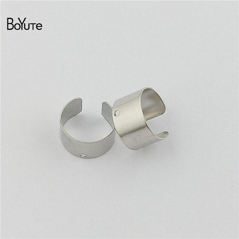 BoYuTe (10 PiecesLot) Simple Plain Metal Brass Stainless Steel Ear Cuff Earrings Jewelry Adjustable Ear Cuff (5)