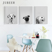 Cute Puppy Dog Canvas Print Owl Decorative Poster Animal Wall Art Painting Nursery Art Canvas Picture Home Decor