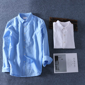 Image 5 - Schinteon Men Spring Summer Cotton Linen Shirt Slim Square Collar Comfortable Undershirt Male Plus Size
