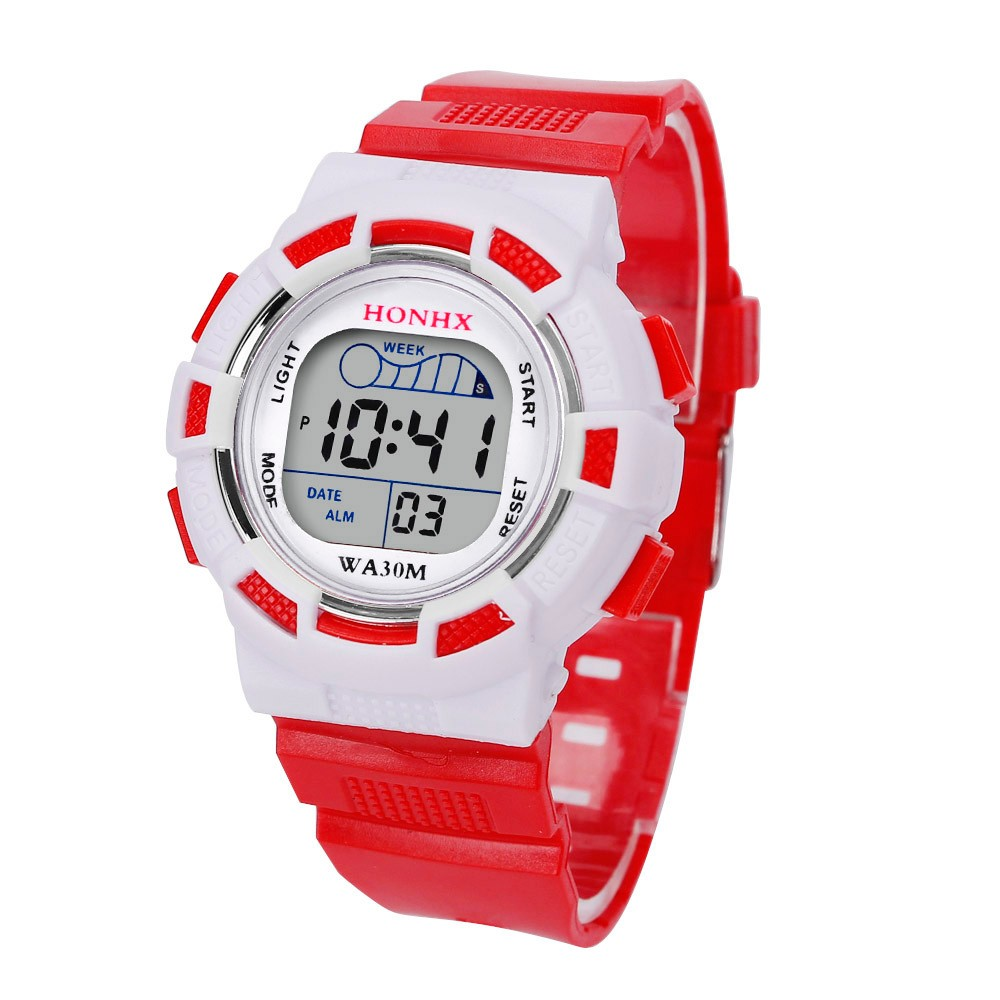Honhx Erkek Kol Saati Watch Boy Fashion Casual Waterproof Watches Boys Digital Led Sports Watch Kids Alarm Date Watch Gift 50 Men's Watches Digital Watches