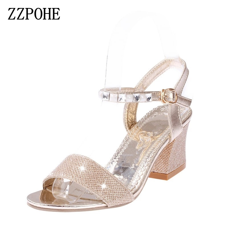 цены ZZPOHE Women Sandals Summer New Woman Fashion Platform High Heels Open Toe Wedge Sandals Soft Leather Sexy Casual Female Shoes