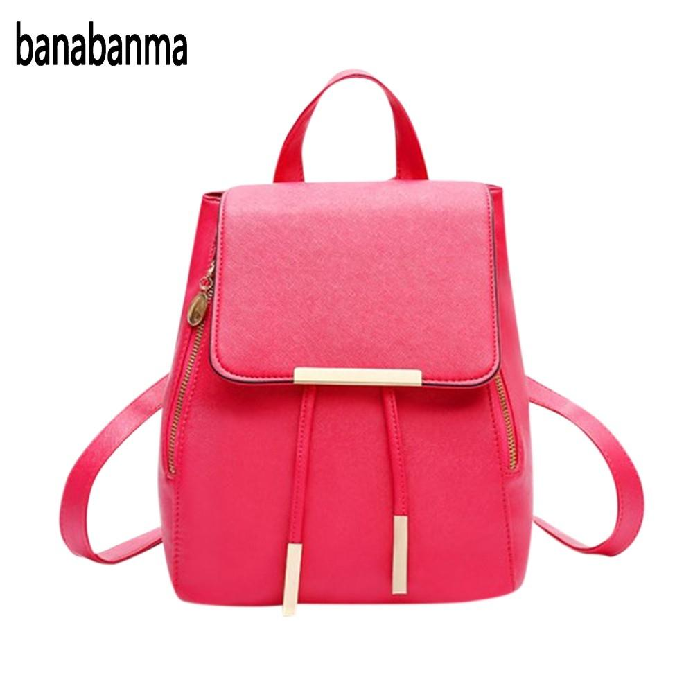 banabanma Fashion All-match Double Zipper Buckle Backpack Women Casual Tassel Large Capacity Shoulder Bag for students ZK30