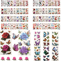 Beautiful Cute Sexy Body Art Beauty Makeup Cool Waterproof Temporary Tattoo Stickers For Girls And Man 200 PCS/Lot