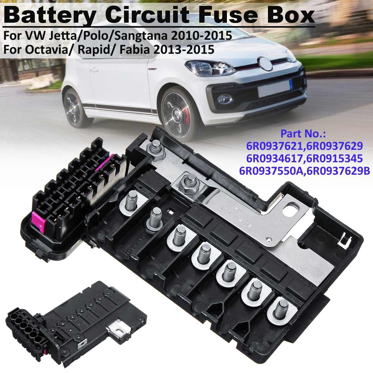 battery circuit fuse box for vw jetta mk6 polo up  sangtana/octavia/rapid/fabia 6r0 934 617 #6r0937621 6r0937629-in fuses from  automobiles & motorcycles on
