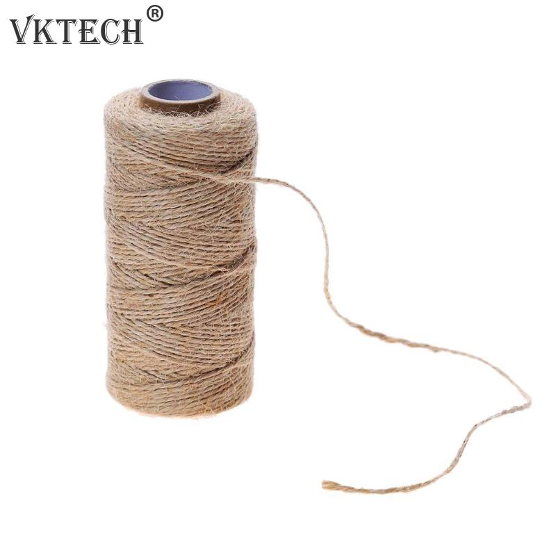 100m/Roll Natural Hemp Rope DIY Tag Label Hang Rope Wedding Home Woven Decorative Twine Jute String Gardening Cord