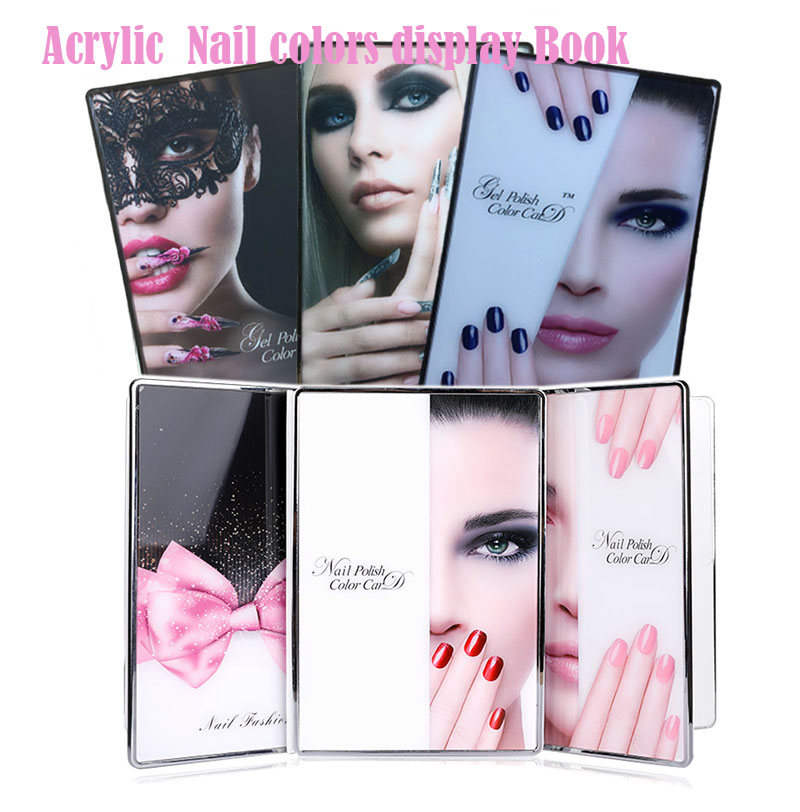 Professional 60/80/96/120/160 Colors Acrylic Nail Gel Polish Display Card Book Color Board Chart Nail Art Salon Manicure Tools image