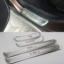 Car Accessories Interior Stainless Steel Outer Door Sill Scuff Threshold Plate Cover Trim 4pcs For Kia KX5/Sportage 2016 high quality door sill step scuff plate external threshold for kia sportage kx5 2016 2017 stainless steel car body cover pedal