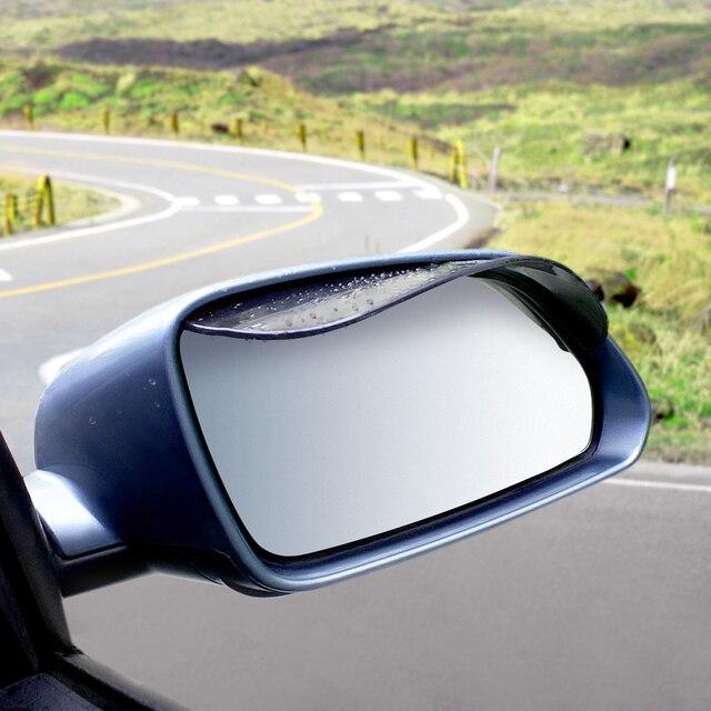 2 Pieces Car Rearview Mirror Sun Visor Rain Eyebrow Auto Car Rear View Side Rain Shield Flexible Protector For Car Styling