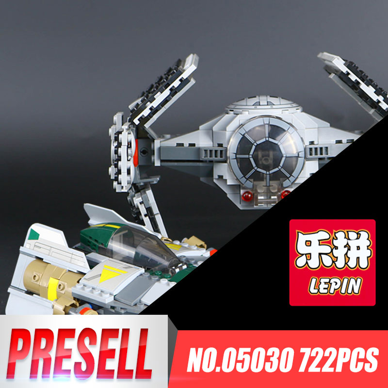 LEPIN 05030 722Pcs Star Vader Tie Advanced VS A Presents wing Star fighter Wars Building Blocks Gift Educational Toys with 75150 a force presents volume 2