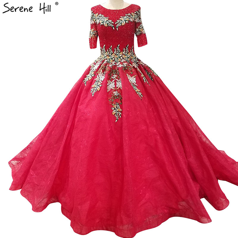 Vintage Long Red Sequin Maternity Ball Gown Wedding Bridal Bride ...