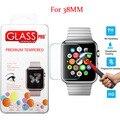 0.3mm ultra thin 9 h dureza templado superior de cristal protector de pantalla para apple watch 38mm protector de pantalla inteligente