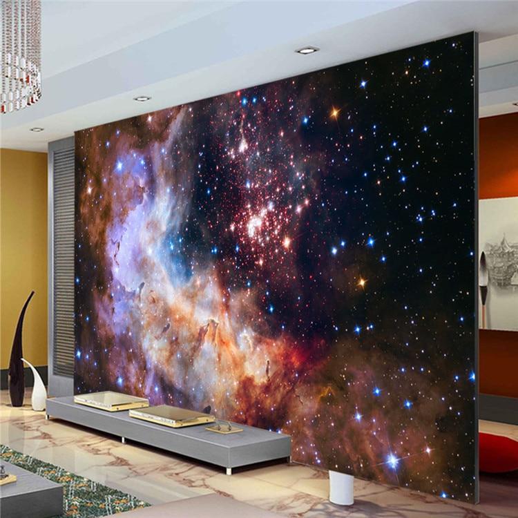 3d Floor Wallpaper Murals 3d Gorgeous Galaxy Photo Wallpaper Custom Silk Wallpaper