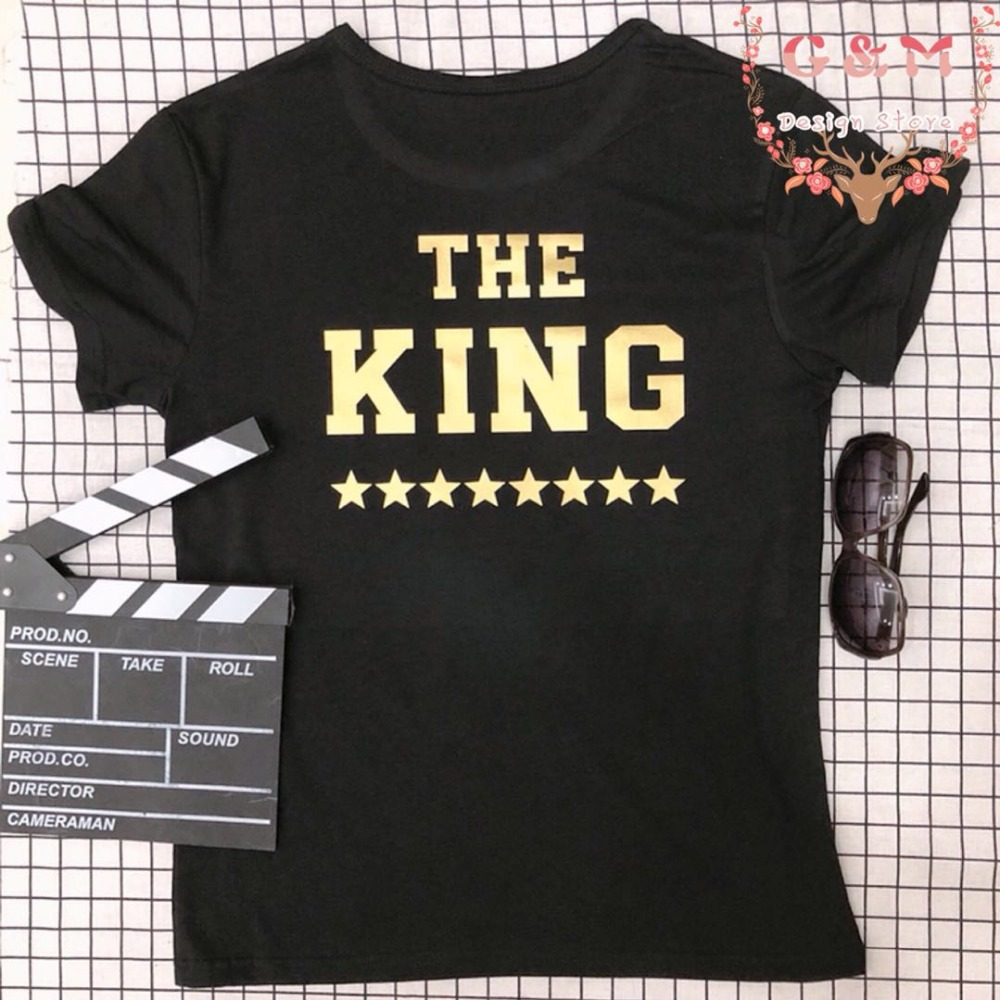 Fashion Cool Gold Print Befree The King Star T Shirt Plus Size Groot