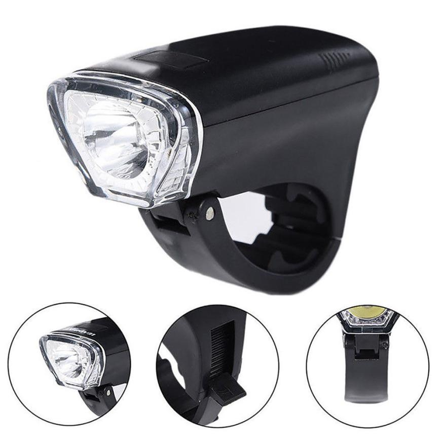 2018 NEW USB 300 lum Bicycle Head Light Bicycle ABS Cycling Waterproof Front Light Head lihgt 3 Modes Lamp Torch AP0803
