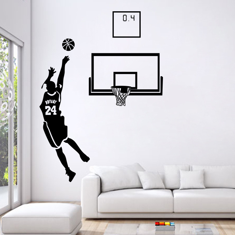 Sports Theme Wall Decals Basketball Star Stickers For ...