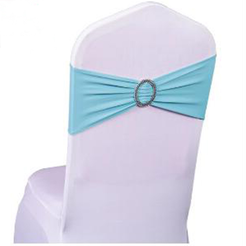 BALLE 100 Pcs Spandex Lycra Wedding Chair Cover Bands Wedding Party Birthday Chair Decoration Chair Sash Wholesale