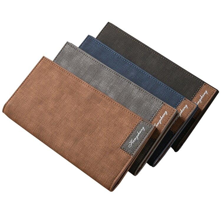 Мужской тонкий бумажник в винтажном стиле, кожаные кошельки, тонкий мужской бумажник, бумажник для мужчин 2020, мужской бумажник для денег