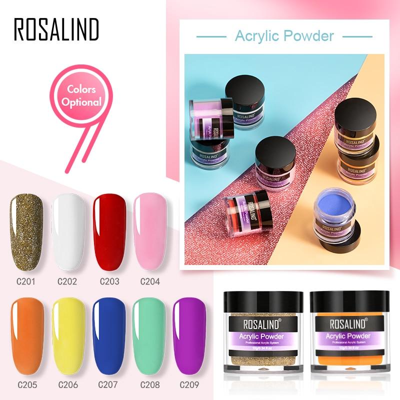 Акриловая пудра ROSALIND для наращивания ногтей, полигель для наращивания ногтей, кристаллическая пудра для дизайна ногтей, резьба, украшение д...