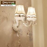 Qiseyuncai Simples Europeu simples lâmpada de parede de cristal luzes do corredor lâmpada de cabeceira quarto sala de estar estilo Europeu
