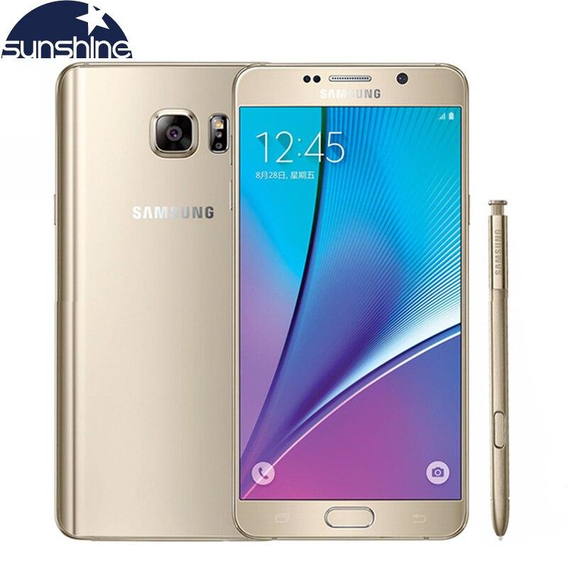 Original Samsung galaxy Note 5 N9200 4G LTE Mobile phone 16MP 5 7 inch Octa core