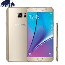 "D'origine Samsung galaxy Note 5 N9200 4G LTE Mobile téléphone 16MP 5.7 ""pouces Octa-core 4 GB RAM 32 GB ROM NFC Caméra téléphone portable"
