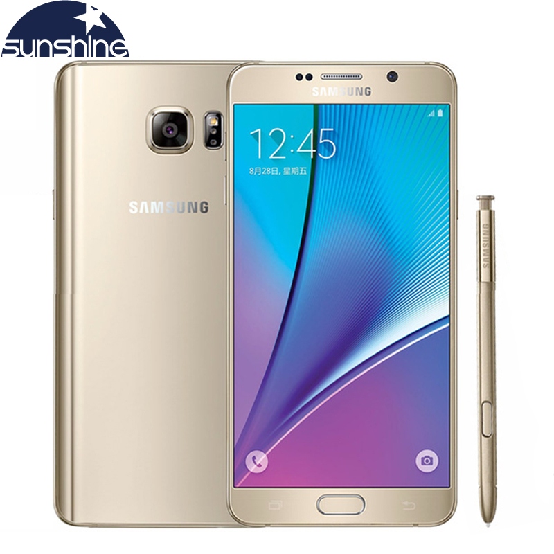 Original Samsung galaxy Note 5 N9200 4G LTE Mobile phone <font><b>16MP</b></font> 5.7&#8221; inch Octa-core 4GB RAM 32GB ROM NFC Camera <font><b>Cellphone</b></font>