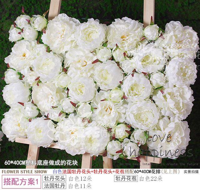40cm60cm artificial silk white peony flower wall wedding decoration 40cm60cm artificial silk white peony flower wall wedding decoration home decor party ivory flowers mightylinksfo