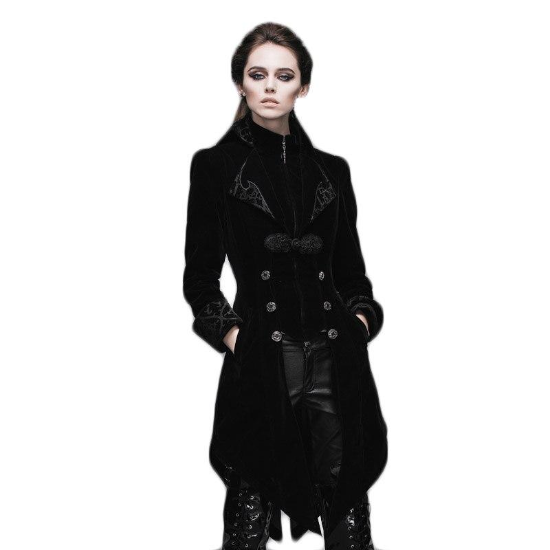 Gothic Women's Coat Steampunk Court Loyal Long Қаптамалар - Әйелдер киімі - фото 2
