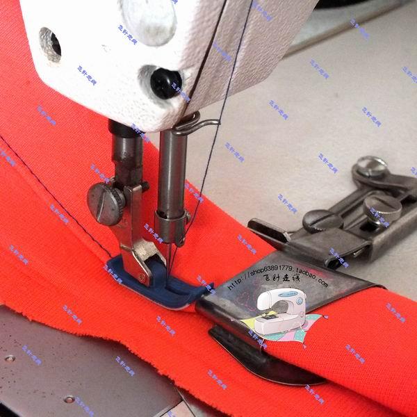 Industrielle Nähmaschinenzubehör elektrische Flachwagenkante Crimpmaschine Führende Tuchgröße für mehr Schrauben-Säumer