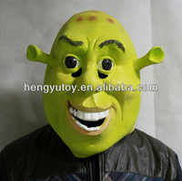 Halloween Props Adult Shrek Masks Latex Masquerade Birthday Party Rubber Green Cosplay Movie Face Mask