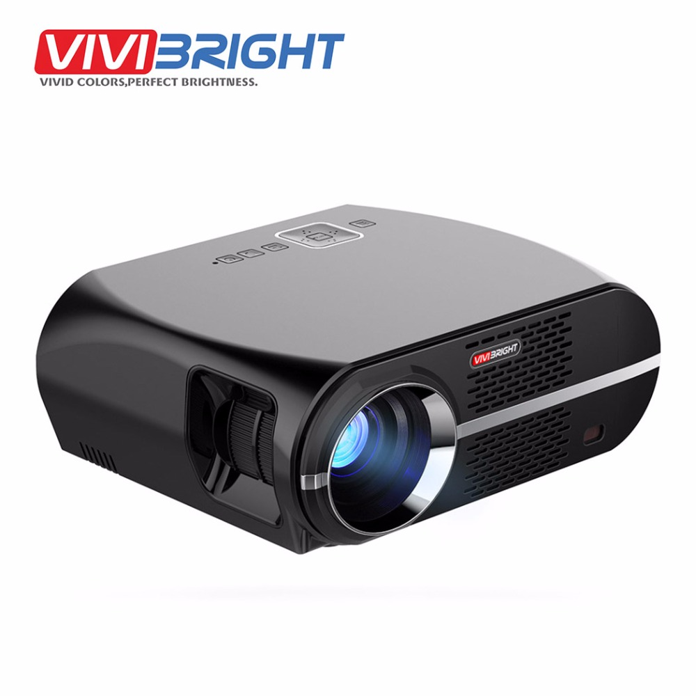 VIVIBRIGHT LED Projector GP100. 1280x800 Resolution 3200 Lumens Support Full HD, Pro Consumer Projector Multimedia Player LED TV aun projector 3200 lumen t90 1280 768 optional android projector with 2 4g air mouse bluetooth wifi support kodi ac3 led tv