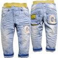 6377 детские джинсы мальчик джинсовые брюки джинсовые детские брюки весна и осень ребенка моды мягкой джинсовой голубой новый