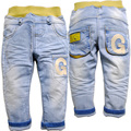 6377 baby jeans boy jeans pants denim kids trousers spring&autumn baby fashion soft denim light  blue new