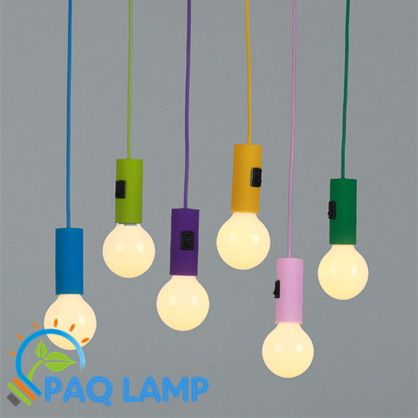 Modern Pendant Light Muuto Lamp E26 E27 Color Silicone Lampholder And Base  Button Switch Hanging Light