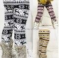 SK047 Free Shipping New Arrival Girls Thick Pants Childrens Winter Warm Leggings Kids Elastic Waist Deer Bootcut Retail