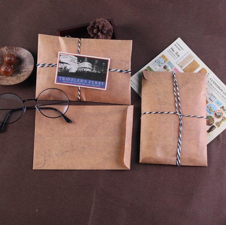 Vintage nota de cambio de dirección de Tarjetas con Sobres Kraft marrón-Paquete de 10
