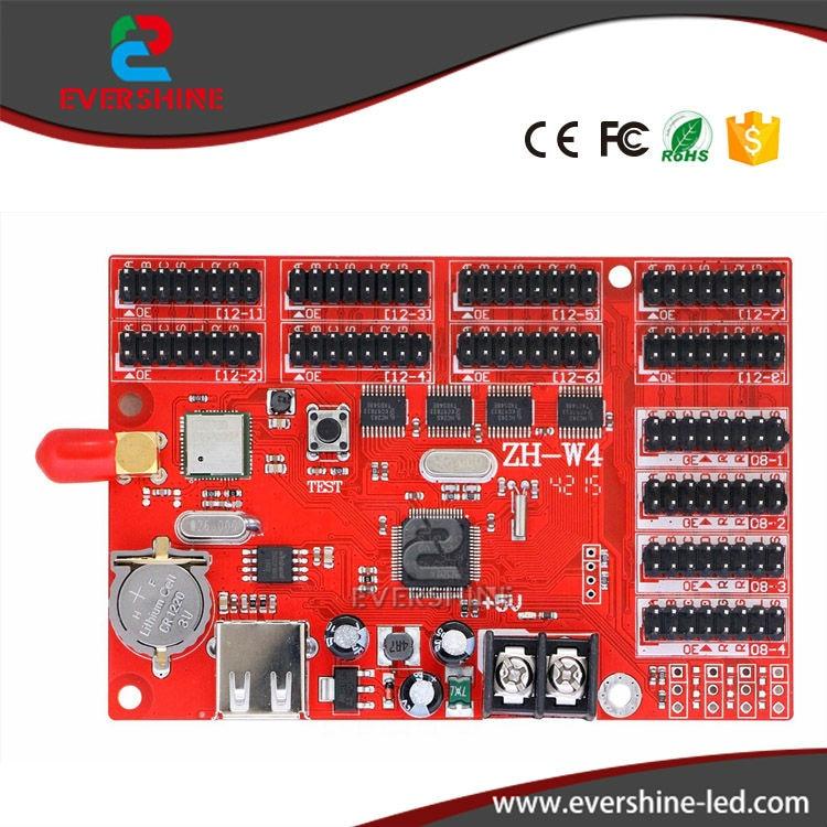 ФОТО ZH-W4 USB&WIFI LED Controller Card 4*HUB08 8*HUB12 800*128 Pixels ZhongHang Wifi LED Control Card LED Panel Board