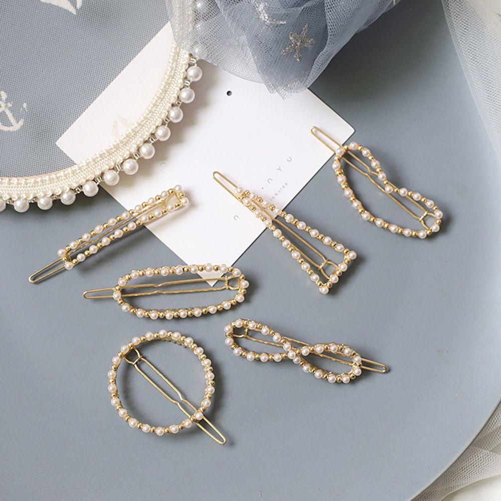 1 pc  Korea Fashion Imitiation Pearl Hair Clip Barrettes for Women Girls Handmade Pearl Flowers Hairpins Hair Accessories