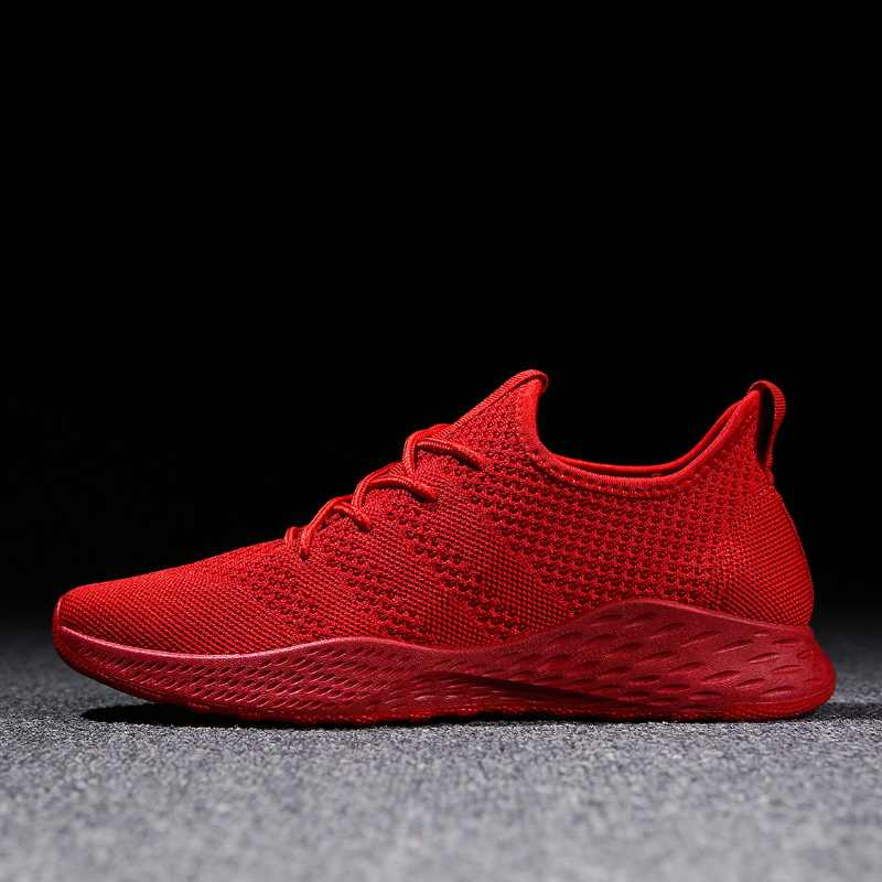 ddc02b4421e Men s Casual Shoes Breathable Men Sneakers High Quality Comfortable Non-slip  Red Black Gray Walking