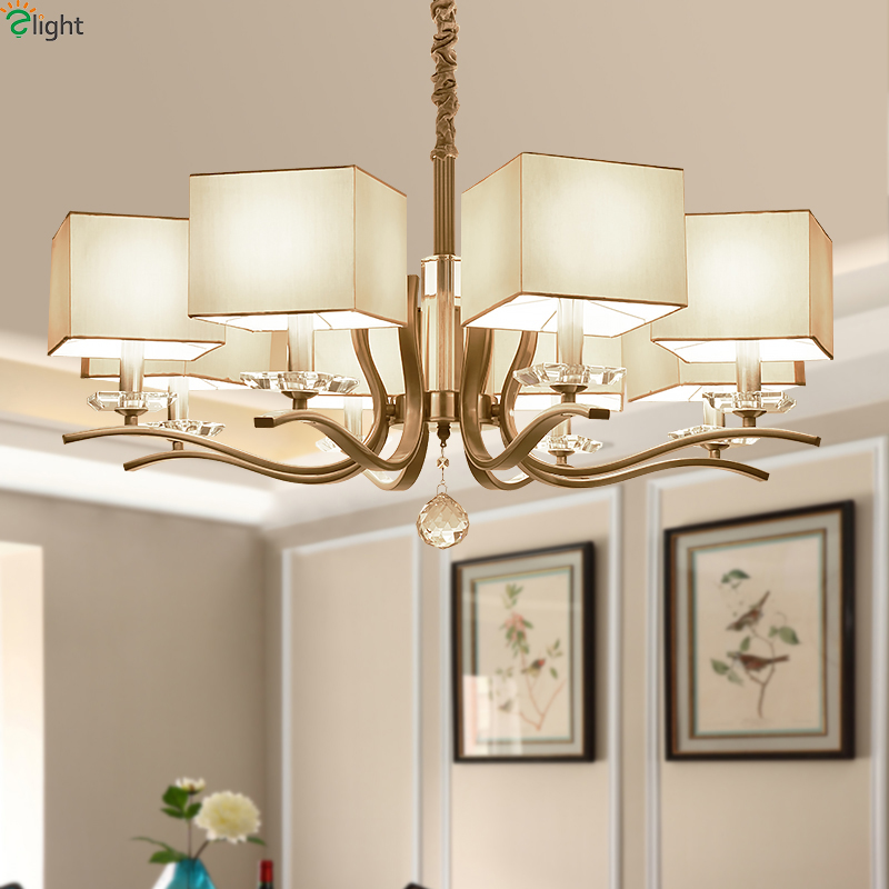 Contemporary Dining Room Chandeliers: Modern Nickel Led Chandeliers Lighting Living Room Square