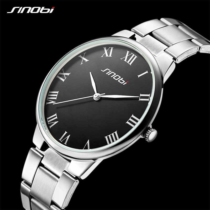 SINOBI watch men fashion luxury watch Reloj Mujer Stainless Steel Quality gentleman Ladies Quartz Watch Couple watches mulilai watch women fashion luxury watch reloj mujer stainless steel quality formal ladies quartz watch women student rome watch